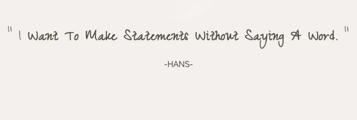 I want to make statements-Hans Petersen